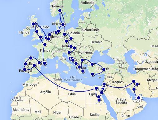 oriente médio, áfrica e europa